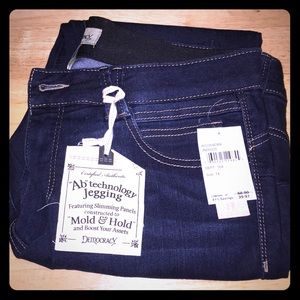 Ab technology skinny jeans